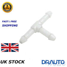 UNIVERSAL PLASTIC T CONNECTOR JOINER FOR WINDSCREEN WASHER HOSE PIPE 3-WAY