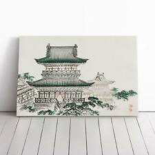Pagoda by Kono Bairei Canvas Print Wall Art Picture Large Home Decor