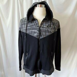 Nike Max Air Hybrid Windrunner Jacket Mens XL White Black 805138 Full Zip Hood