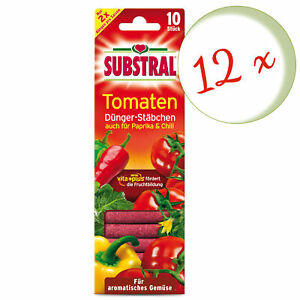 Savings Set: 12 X Substral Fertilizer Sticks For Tomatoes, 10 Piece