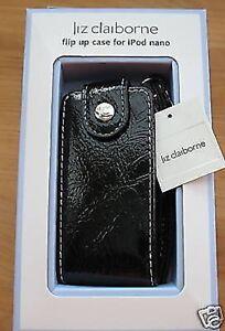 Liz Claiborne New Black Flip Up Ipod Nano Case 2nd Generation Designer Fashion