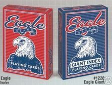Eagle Playing Cards Poker Red Blue Casino Giant Jumbo