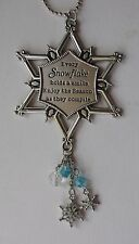 c Every snowflake holds a smile Sparkle Snowflake Car Charm Mirror Ornament