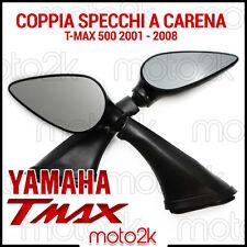 CP. SPECCHI SPECCHIETTI RETROVISORI GOCCIA YAMAHA TMAX T-MAX 500 2001 2007 NERO