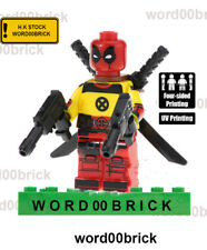 deadpool minifigure lego Custom PAD UV Printed BRICK deadpool minifigure
