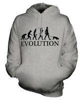 Jack Russell Terrier Evolution Of Man Unisex Felpa con Cappuccio Uomo Donna Cane