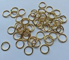 50 pieces - large gold open jump ring - 1cm x 1cm