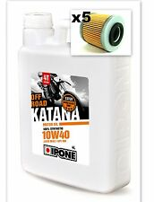 PACK Vidange 4L Huile moteur 10W40 IPONE KATANA OFF ROAD+ 5 filtres CRF 250/450