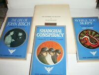 4 JOHN BIRCH SOCIETY: Life of J. Birch, Shanghai Conspiracy, While You Slept +