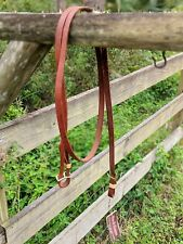 7 Foot Long Premium Oiled Leather Western Rein New Horse Tack Bar H Equine