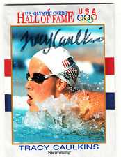 Olympic Tracy Caulkins 3 Gold Medals SIGNED CARD