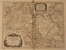 "Orig. grenzkol. Kupferstichkarte ""Partie Occidentale du Palatinat"" 1700 sf"