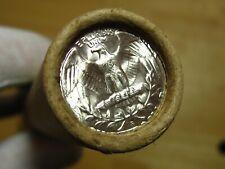 (ONE) CNB Denver PRE-1960 Full GEM BU Washington Silver Quarter Roll