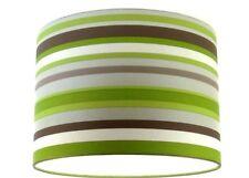"Lampshade Handmade from Sophia Green Silver Off White Stripe Wallpaper 30cm/12"""