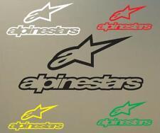 "(2) 6"" ALPINESTAR logo decal vinyl sticker helmet bike motorcyle extreme S450"