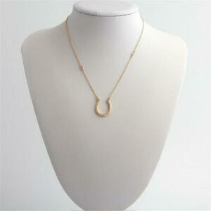 Kate Spade New York Wild Ones Pave Horseshoe  Pendant Necklace