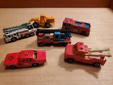 Matchbox + Hotwheels Emergency Vehicle Firetruck 1970s/1980s LOT (6) ANTIQUE