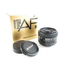 Nikon AF Nikkor 1:2 D 35mm obiettivo lens in scatola originale