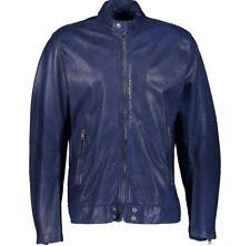 DIESEL Blue Vintage Sheepskin Leather Jacket