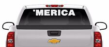 38 inch 'MERICA Sticker USA patriotic Proud Army Marines vinyl window decal