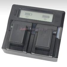 LCD Charger +2x Battery for Panasonic VW-VBT190 VBT380 HC-VX870 VX980 W580 V380