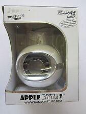White AppleByte2 Plug & Play Mini Sized Loudspeaker Mega Speaker for MP3 Player