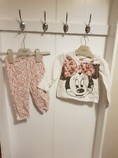 9-12 Months Girls Disney Minnie Mouse 2 Piece Set Leggings Top Playset Outfit