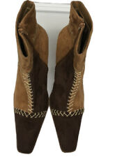 Womans Suede Brown Boots Size 10
