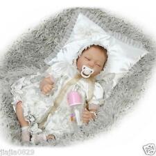 "22"" Lovely Reborn Baby Dolls Girl Boy Real Life Soft Vinyl Silicone Newborn Gift"