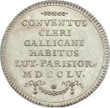 O3820 Jeton Louis XV Assemblée Clergé Religieux 1755 Argent Silver SPL !! FDC