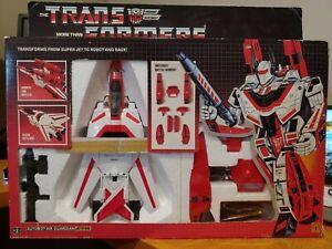 Jetfire 1984/1985 Transformers G1 Autobot w/ Box & Unused Stickers. MINT.