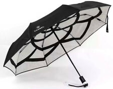 New Genuine CHANEL Camelia Black  Umbrella with torch and pouch