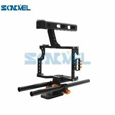 Sonovel  Rod Rig Camera Video Cage Kit+Top Handle Grip for Sony A7 A7r A7s /GH4