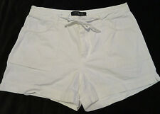 """Riveted by Lee White Causal Cotton Shorts Womens 12 M  Waist 32"""""""