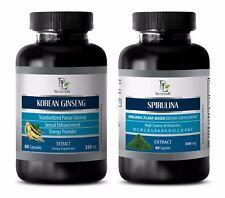 Weight loss mood enhancer - KOREAN GINSENG – SPIRULINA COMBO - spirulina powder