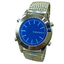 English Talking Watch with Alarm for Blind People, Blue Dial, Expansion Band