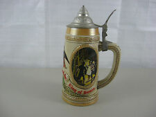 "Vintage Budweiser Anheuser Busch Lidded Beer Stein Limited Edition ""E"" Series"