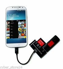 VONOTO 3 in 1 Micro USB Host adapter SD TF Samsung card reader OTG Mobile Phone