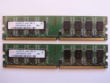 2x 2GB Hynix HYMP125U64CP8-S6 4GB PC2-6400 DDR2-800 DDR2-SDRAM 800 MHz RAM Kit