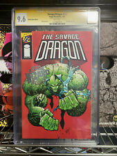 THE SAVAGE DRAGON #1/2 CGC 9.6 SPECIAL FOIL EDITION SS SIGNED BY ERIK LARSEN