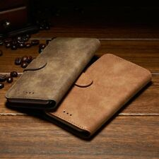 New Luxury Suede Leather Flip wallet Case Cover For Samsung Galaxy Phones