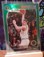 Nikola Jokic 7 Card Lot - 2019/20 NBA Hoops Green Prizm + more * Denver Nuggets