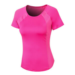 Workout Running T-shirts for Women Fitness Athletic Yoga Tops Exercise Gym Shirt