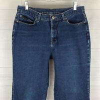 NY Jeans womens size 12 Tall blue medium wash 100% cotton high rise flare denim