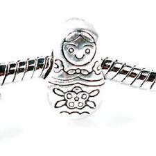 Silver Matryoshka Doll Charm -  Matryoshka Bead Charm - Russian Doll Bead