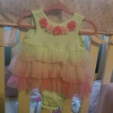 First Impressions tulle tutu bodysuit dress 3 month
