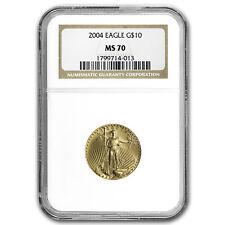 2004 1/4 oz Gold American Eagle MS-70 NGC