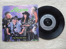 "POISON YOUR MAMA DON'T DANCE CAPITOL RECORDS UK 7"" VINYL SINGLE in PIC/SLEEVE"