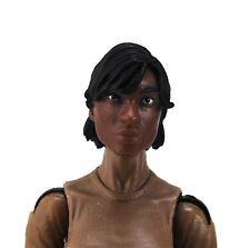Marauders Valkyries 3.75 inch Female Head Dark Skin Tone Black Short Hair