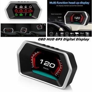 Car OBD HUD GPS Digital Computer Head Up Display HD Screen Driving Speed Alarm